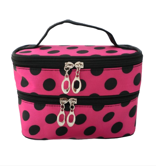 WH1-F012 COSMETIC PURSE pink & black